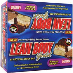 LABRADA Lean Body Bar Gold S'mores Delight 12 bars