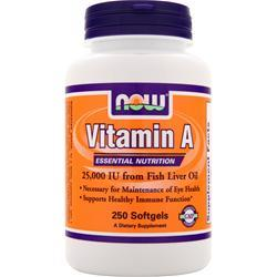 NOW Vitamin A (25,000IU) 250 sgels