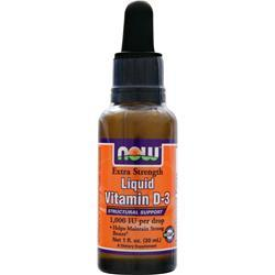 NOW Vitamin D3 Liquid (1,000IU) 1 fl.oz