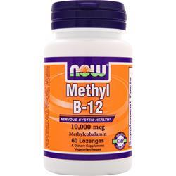 NOW Methyl B-12 (10,000mcg) 60 lzngs