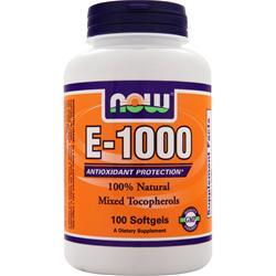 Now E-1000 100% Mixed Tocopherols 100 sgels