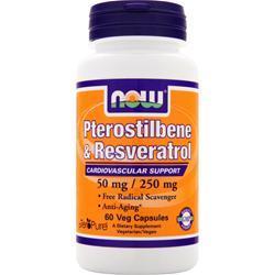 NOW Peterostilbene & Resveratrol 60 vcaps