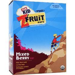 Clif Bar Z Fruit Rope - Organic Mixed Berry 18 pckts