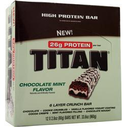 Premier Nutrition Titan Bar Chocolate Mint 12 bars