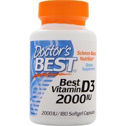 Doctor's Best Best Vitamin D3 (2000IU) 180 sgels