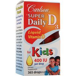 CARLSON Super Daily D3 - Liquid Vitamin D for Kids (400IU) 365 drops