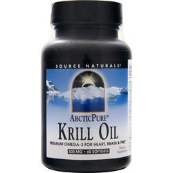 SOURCE NATURALS ArcticPure Krill Oil 60 sgels