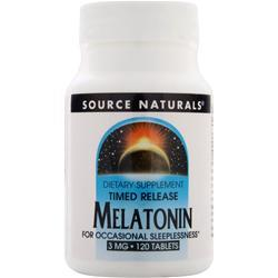 SOURCE NATURALS Melatonin - Time Released (3mg) 120 tabs