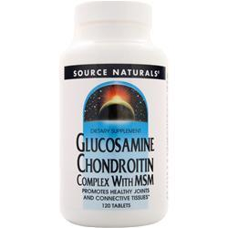 Source Naturals Glucosamine Chondroitin Complex with MSM 120 tabs