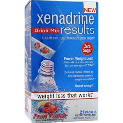 IOVATE Xenadrine Ultra Drink Mix Fruit Punch 21 pckts