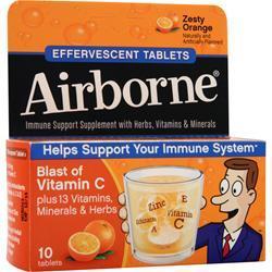 Airborne Airborne - Effervescent Tablets Zesty Orange 10 tabs