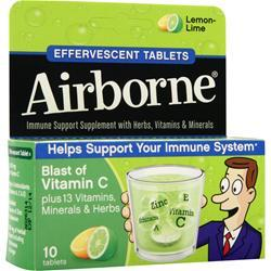 AIRBORNE Airborne - Effervescent Tablets Lemon-Lime 10 tabs