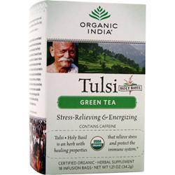 ORGANIC INDIA Tulsi Holy Basil Tea Green Tea 18 pckts