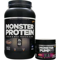 Cytosport Monster Protein with Free Monster Pump NOS Chocolate/Fruit Punch 2 lbs