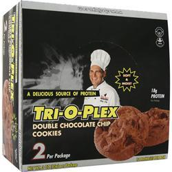 CHEF JAY'S Tri-O-Plex Cookies Double Chocolate Chip 12 pckts
