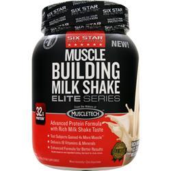 Six Star Pro Nutrition Muscle Building Milk Shake Elite Series Rich Vanilla Milkshake 2 lbs