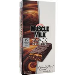 CYTOSPORT Muscle Milk Snack Protein Bar Chocolate Peanut Caramel 12 bars