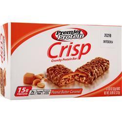 Premier Nutrition Premier Protein Crisp Bar Peanut Butter Caramel BEST BY 4/11/16 6 bars