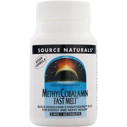 SOURCE NATURALS Methyl Cobalamin Fast Melt (5mg) 60 tabs