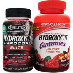 MUSCLETECH Hydroxycut Hardcore Elite plus Free Gummies 160 count