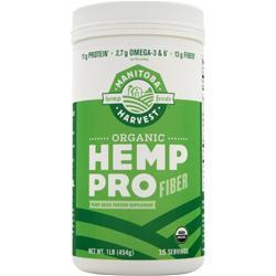 Manitoba Harvest Organic Hemp Pro Fiber  BEST BY 10/31/17 16 oz