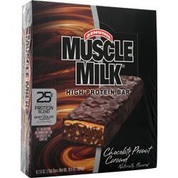 CYTOSPORT Muscle Milk Bar Chocolate Peanut Caramel 8 bars