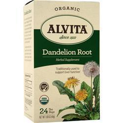 Alvita Tea Bags - Organic Dandelion Root 24 pckts