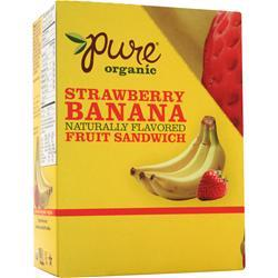 PROMAX Pure Organic Naturally Flavored Fruit Sandwich Bar Strawberry Banana 20 bars