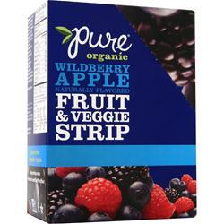 Promax Pure Organic Fruit & Veggie Strip Bar Wildberry Apple 24 bars