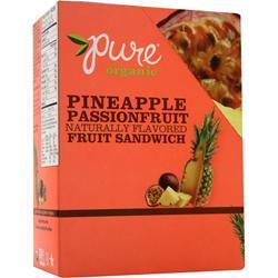 PROMAX Pure Organic Naturally Flavored Fruit Sandwich Bar Pineapple Passion Fruit 20 bars