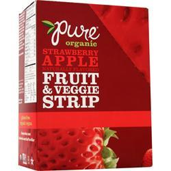 PROMAX Pure Organic Fruit & Veggie Strip Bar Strawberry Apple 24 bars
