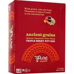 Promax Ancient Grains Bar - Pure Organics Triple Berry BEST BY 11/16/16 12 bars