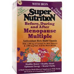 SUPER NUTRITION Before, During and After Menopause Multiple 60 pckts