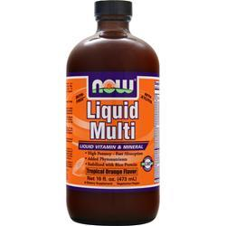 NOW Liquid Multi Tropical Orange 16 fl.oz