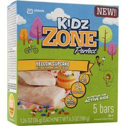 ZONE PERFECT Kidz Zone Bar Yellow Cupcake 5 bars