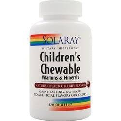Solaray Children's Chewable Vitamins and Minerals Natural Black Cherry 120 chews