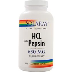 Solaray HCL with Pepsin (650mg) 250 vcaps