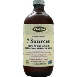 FLORA 7 Sources - Premium Oil Blend Best by 7/15 17 fl.oz