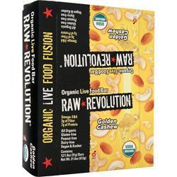 Raw Indulgence Raw Revolution - Organic Live Food Bar Golden Cashew 12 bars