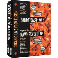 RAW INDULGENCE Raw Revolution - Organic Live Food Bar Heaven Hazelnut Chocolate 12 bars