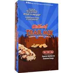 ISS RESEARCH Oh Yeah! Trail Mix Bar Cashews Almonds Peanuts 10 bars