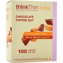 Think Thin Bites Chocolate Toffee Nut 5 bars