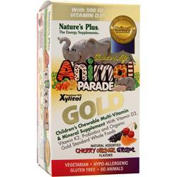 NATURE'S PLUS Animal Parade Gold Children's Chewable Multi Assorted Flavors 60 tabs