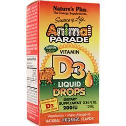 NATURE'S PLUS Animal Parade D3 Liquid Drops Orange 10 mL