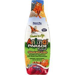 NATURE'S PLUS Animal Parade Liquid - Children's Multi-Vitamin Tropical Berry 30 fl.oz