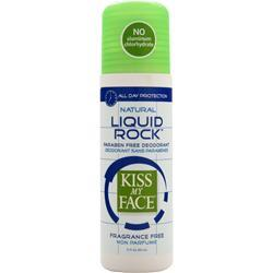 KISS MY FACE Liquid Rock Deodorant Fragrance Free 3 fl.oz