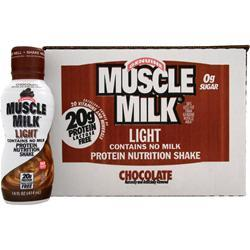 CYTOSPORT Muscle Milk Light RTD Chocolate (14 fl. oz.) 12 bttls