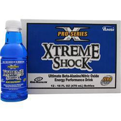 ANSI Pro Series Xtreme Shock Ready to Drink Blue Raspberry (16 fl oz) 12 bttls