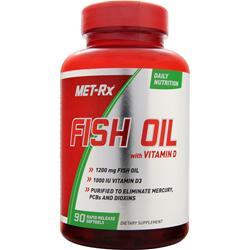 MET-RX Fish Oil with Vitamin D 90 sgels