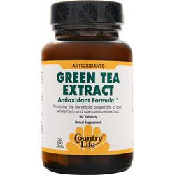 COUNTRY LIFE Green Tea Extract 90 tabs